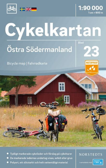 Sweden Cycling Map 23 - Södermanland East